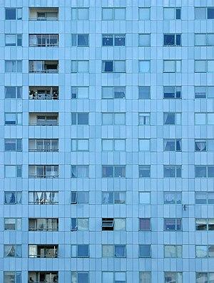 Hagalund - Blue skyscraper.