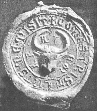 Hahót (genus) - Seal of Tristan Hahót, 1255