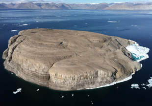 Hans Island from the east (Greenland) side
