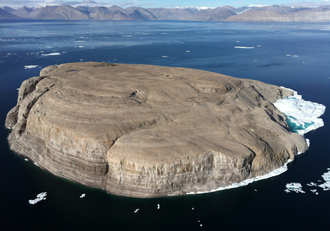 Hans Island - Hans Island from the east (Greenland) side