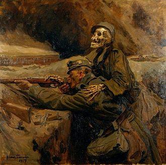 1917 in art - Image: Hans Larwin Soldat und Tod 1917