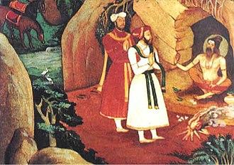 Vidyaranya - Harihara and Bukka meeting Vidyaranya