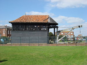 Harwich Dockyard - Seventeenth-century dockyard crane on Harwich Green
