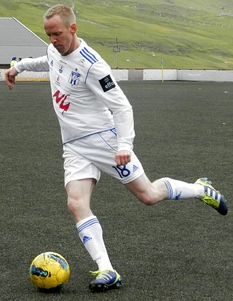 Heðin á Lakjuni - Heðin á Lakjuni playing for KÍ in 2012.