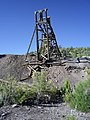 Headframe at the Black Metal Shaft, NW of the ghost town of Jackrabbit, Looking SW, Lincoln County, NV, USA - panoramio.jpg