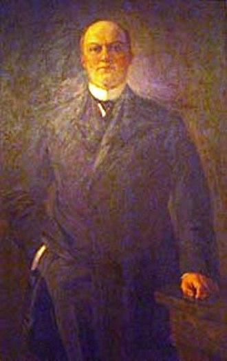 Heber Manning Wells - Painting of Heber Manning Wells