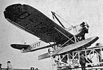 Heinkel HE 12 on catapult SS Bremen L'Air September 15,1929.jpg