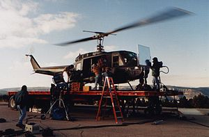 Chill Factor (film) -  Helicopter pilot Ray McCort filming Chill factor