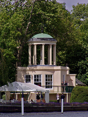 Henley Women's Regatta - The Temple on Temple Island, the iconic starting point of Henley Women's Regatta.