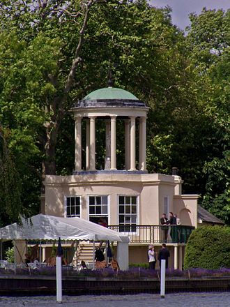 Henley Women's Regatta - The Temple on Temple Island, the iconic starting point of Henley Women's Regatta.