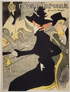 <i>Divan Japonais</i> (lithograph) lithograph poster by French artist Henri de Toulouse-Lautrec