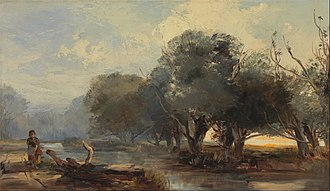 Henry Bright (painter) - On the Norfolk Broads (c.1855), Yale Center for British Art