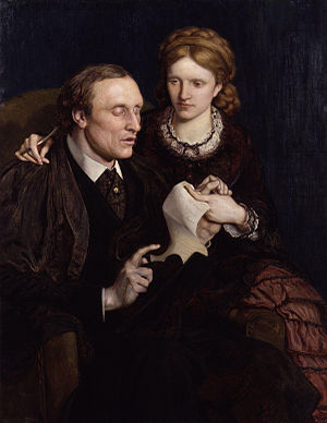 Henry Fawcett - Henry Fawcett and Millicent Garrett Fawcett by Ford Madox Brown, 1872, National Portrait Gallery, London.