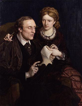 Henry Fawcett - Henry Fawcett and Millicent Garrett Fawcett by Ford Madox Brown, 1872, National Portrait Gallery, London.