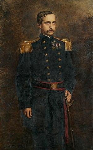 Mariette Leslie Cotton - Portrait of Henry Keteltas by Mariette Leslie Cotton (1883-1884, oil on canvas, 60 1/4 x 37 1/4 inches)