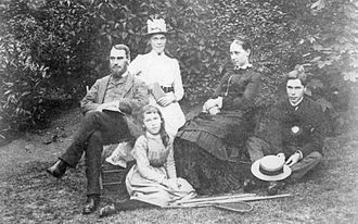 Clara Rackham - Clara (centre front), with her father Henry and mother Emma, sister Margaret and brother Francis