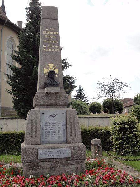 Herbéviller (M-et-M) monument aux morts