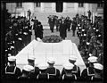 Herbert Hoover at tomb of unknown soldier, Arlington National Cemetery, Arlington, Virginia LCCN2016889696.jpg
