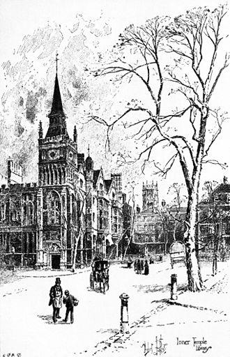 Montague Druitt - The Inner Temple, 1895 Sketch by Herbert Railton