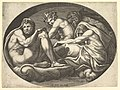 Hercules, Bacchus, Pan, and Saturn, from a series of eight compositions after Francesco Primaticcio's designs for the ceiling of the Ulysses Gallery (destroyed 1738-39) at Fontainebleau MET DP821342.jpg