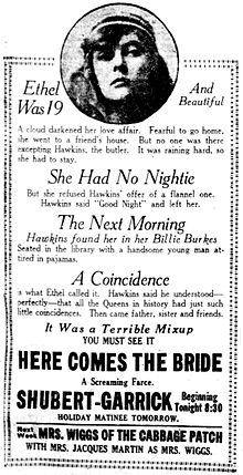 Herecomesthebride1919newspaperad.jpg