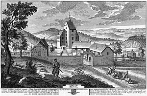 Elgg Castle - Elgg Castle in 1740