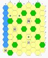 Hexshogi moves - bishop, lance, knight, pawn.PNG