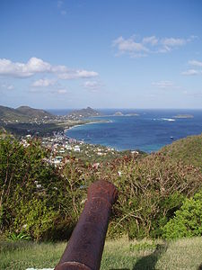 Vista di Hillsborough (Carriacou).