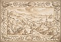 Hilly Coastal Landscape with Hunters, with an elaborate border of Fishes and Birds MET DP801111.jpg