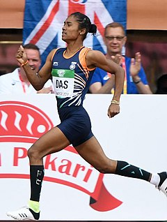 First First Gold Medallist on International TrackHima Das