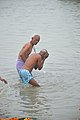 Hindu Devotees Taking Holy Dip In Ganga - Makar Sankranti Observance - Kolkata 2018-01-14 6618.JPG