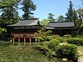 Hishigataike Pond and Nogakuden Hall of Usa Shrine 4.JPG