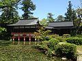 Hishigataike Pond and Nogakuden Hall of Usa Shrine 4.JPG