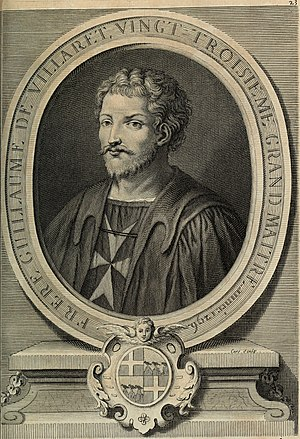 Guillaume de Villaret - Guillaume de Villaret on a copper engraving by Laurent Cars, c. 1725