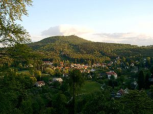 Zittau Mountains - Oybin surrounded by upland forest