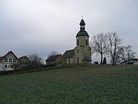 Hohendorf Bürgel Thuringia Germany-Church-view direction W-2013-12-01.jpg