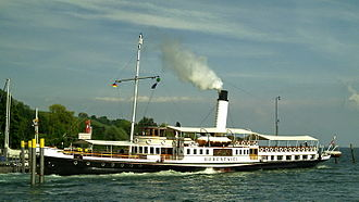 A Dangerous Method - A scene featuring Keira Knightley and Michael Fassbender was filmed aboard the paddle steamer Hohentwiel on Lake Constance