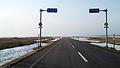 Hokkaido prefectural road 106, Wakasanai Toyotomi-town Hokkaido, JAPAN.jpg