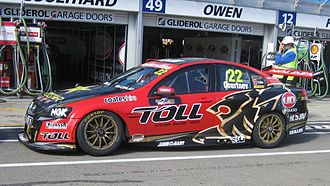 James Courtney - The Holden VE Commodore of James Courtney at the 2012 Clipsal 500 Adelaide