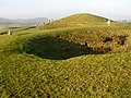 Holes and barrows on Bronkham Hill - geograph.org.uk - 298163.jpg