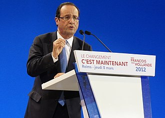 French presidential election, 2012 - Hallonde campaigning