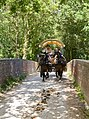 Horse and cart crossing Battramsley railway bridge - geograph.org.uk - 1452357.jpg