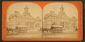 Horse trolley and City Hall, Detroit, Michigan, from Robert N. Dennis collection of stereoscopic views.png