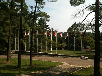 Chester County Council - Horseshoe Scout Reservation flags