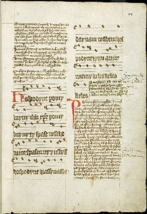 Hospodine, pomiluj ny - The oldest preserved complete transcription of the hymn from the late 14th century