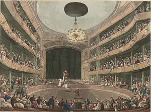 Philip Astley - Astley's Amphitheatre in London circa 1808.