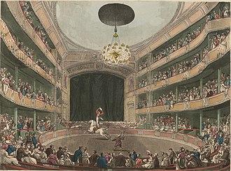 Astley's Amphitheatre - Astley's Amphitheatre in London circa 1808.