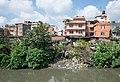 Houses along the Vishnumati river - Kathmandu, Nepal - panoramio.jpg