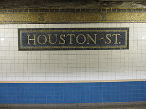 Houston Street (IRT Broadway–Seventh Avenue Line) - Name Tablet and trim line