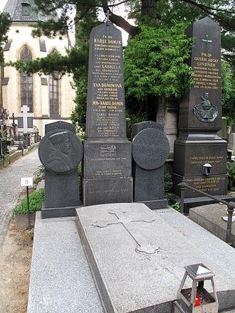 Karel Domin - Domin's grave, Vyšehrad cemetery